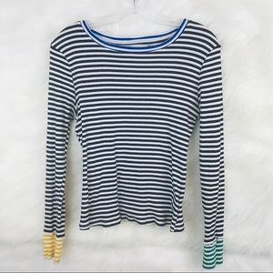 POPSUGAR Multicolor Striped Tee Sz. M